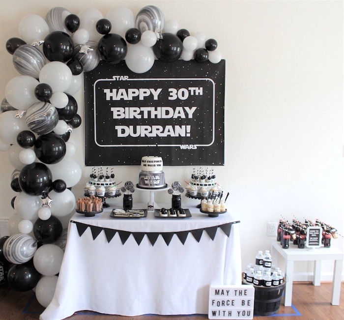 Monochromatic Star Wars Birthday Party