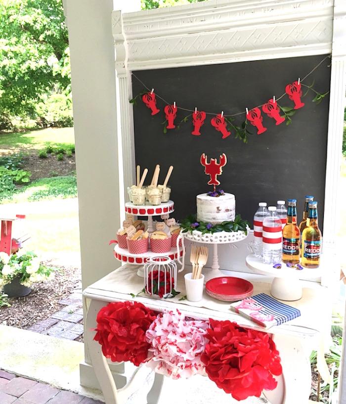 Nautical Lobster Summer Party on Kara's Party Ideas | KarasPartyIdeas.com (27)