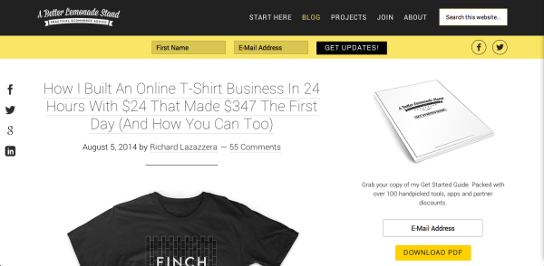 A Better Lemonade Stand – Practical Ecommerce Advice